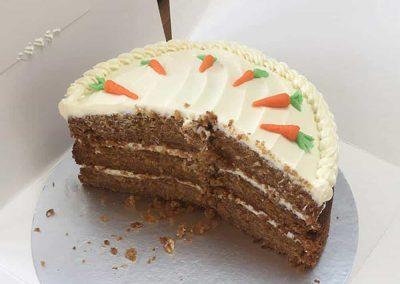 Half gone Carrot cake